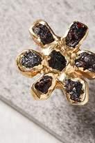 Dried Wildflower Stone Ring