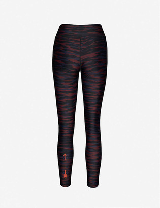 The Upside Anima animal-print mid-rise stretch-woven leggings