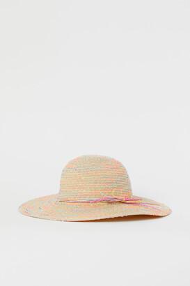 H&M Nepped Straw Hat - Beige