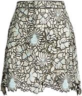 Self-Portrait Poppy guipure-lace mini skirt