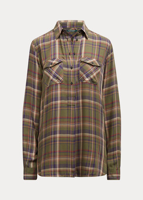 Ralph Lauren Plaid Patch-Pocket Shirt
