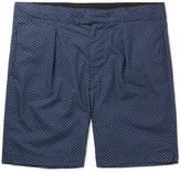 Engineered Garments Sunset Slim-fit Polka-dot Cotton-poplin Shorts - Navy