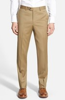 Nordstrom Men's Flat Front Wool Trousers