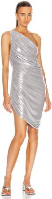 Norma Kamali for FWRD Diana Mini Dress in Silver | FWRD