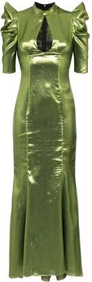 De La Vali Audrey lurex maxi dress