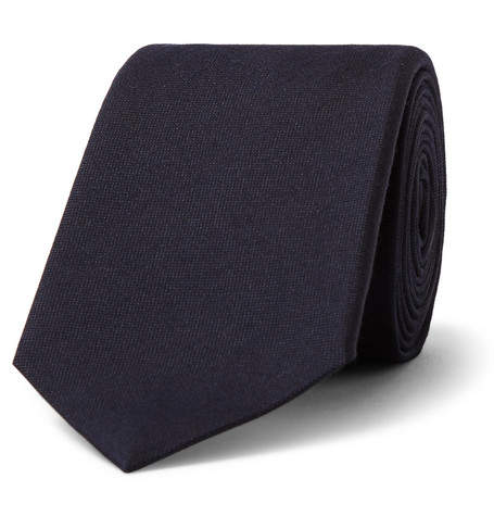 Gucci 7cm Panther-Appliqued Silk and Wool-Blend Tie - Men - Navy