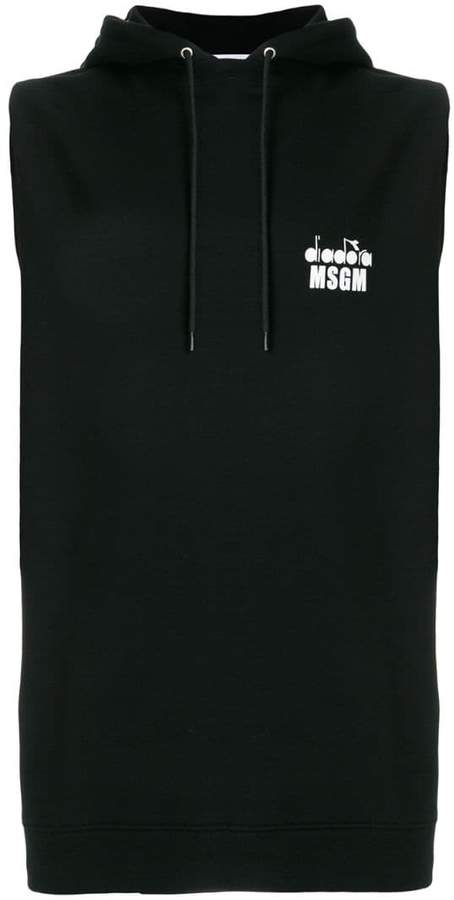 MSGM X Diadora sleeveless hoodie