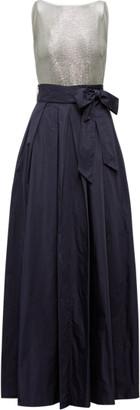 Ralph Lauren Metallic-Taffeta Gown