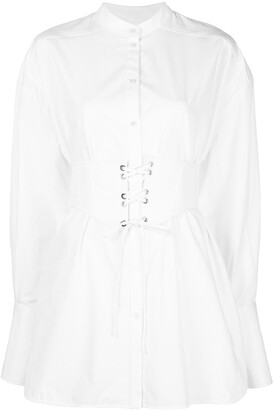Ellery Crushing corset belt shirt