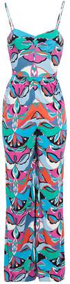 Emilio Pucci Printed Jersey Wide-leg Jumpsuit