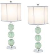 Safavieh Stephanie Green Globe Lamps (Set of 2)