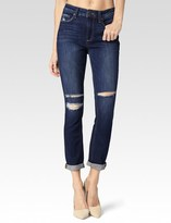 Paige Carter Slim - Damen Destructed Caballo Inseam