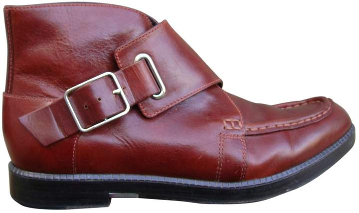 Alexander Wang Leather buckled boots