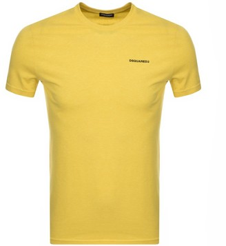 DSQUARED2 Chest Logo Short Sleeved T Shirt Yellow