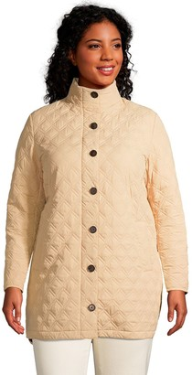 Lands' End Petite Plus Size Insulated Packable Quilted Barn Coat