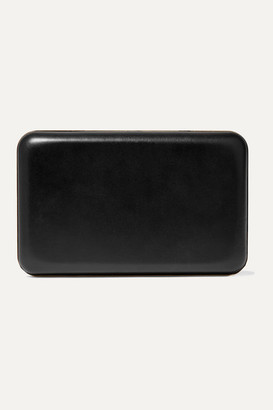 The Row Moulded Leather Clutch - Black