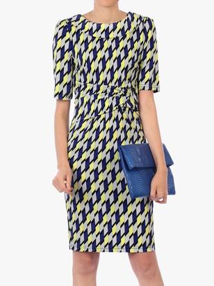 Jolie Moi Geometric Print Pencil Dress, Yellow/Multi