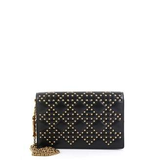Christian Dior Lady Black Leather Clutch bags