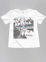 Junk Food Clothing Kids Boys Captain America Justice Tee-electric White-l
