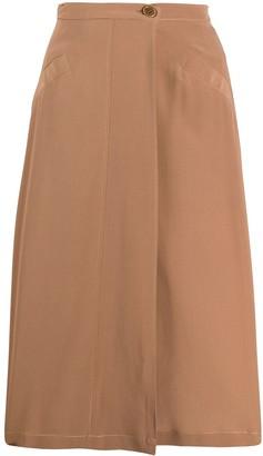Aspesi High-Waisted Silk Skirt
