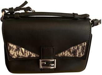 Fendi Bebaguette Black Python Handbags