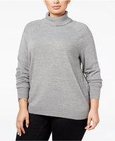 Karen Scott Plus Size Luxsoft Turtleneck Sweater, Only at Macy's