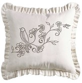 Ophelia Makena Linen Weave Ruffled Floral Throw Pillow & Co.