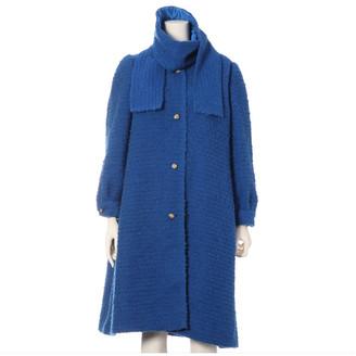 Chanel Blue Wool Coats