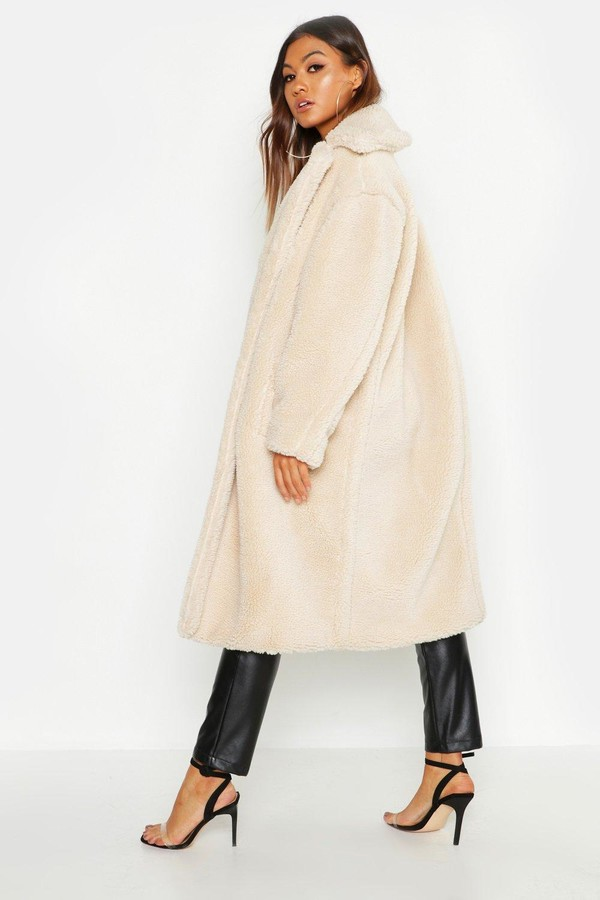 Thumbnail for your product : boohoo Oversized Teddy Faux Fur Coat