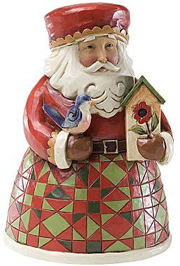 JCPenney Santa with Birdhouse Christmas Figurine