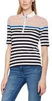 Basler Women's 417085005 Polo Shirt, Blau (Blue Multicolour 01)