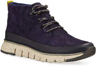 Cole Haan Men's Zero Grand Iridescent Mixed Leather Hiker Boots