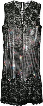 Paco Rabanne Flower Garland embellished lace dress