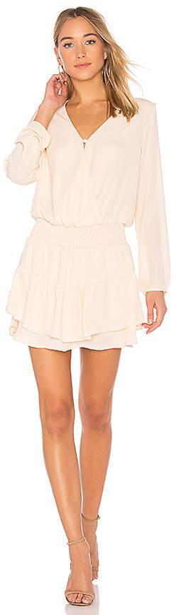 Krisa Smocked Surplice Dress