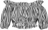 Dolce & Gabbana Striped Cotton Crop Top