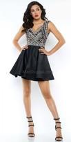 Mac Duggal V-Back Jeweled Homecoming Dress