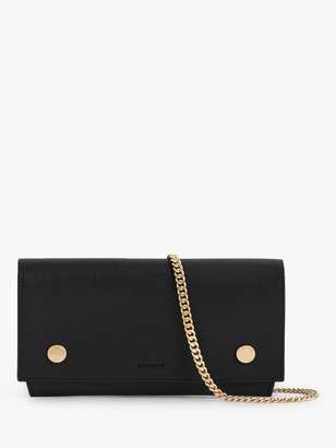 AllSaints Albert Leather Wallet, Black