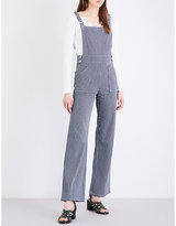 Maje Pitano stretch-cotton dungarees