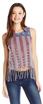 Almost Famous Women's Americana Flag Graphic Muscle Tee