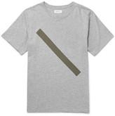 Saturdays NYC Slash Slim-fit Printed Mélange Cotton-jersey T-shirt - Gray