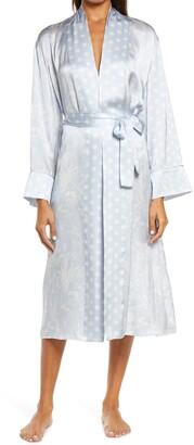 Papinelle x Karen Walker Spliced Ivy Dot & Floral Print Silk Robe