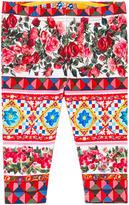 Dolce & Gabbana Maiolica print leggings