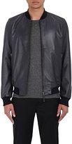 Lot 78 x Barneys New York Men's Leather Bomber Jacket-NAVY