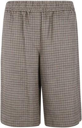 Brunello Cucinelli Checked Shorts