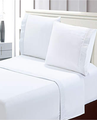 Bella Shabby Chic Easy Care Ruffled 4pcs Microfiber Bed Sheet Set - Queen Bedding