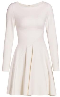 Alaia Long-Sleeve Boatneck Dress