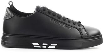 Emporio Armani Black White Sock Sneaker