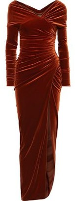Alexandre Vauthier Ruched Stretch-velvet Gown