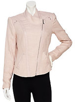 As Is Mark of Style by Mark Zunino Linen Jacket with Faux Leather