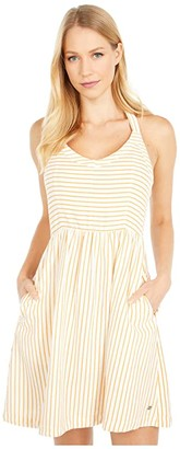 Roxy From the Side Dress (Snow White Indie Stripes) Women's Dress